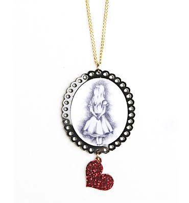 Alice In Wonderland Cameo Necklace from Punky Pins
