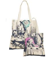Alice In Wonderland Vintage Sketch Print Canvas Tote Bag from Out Of Print