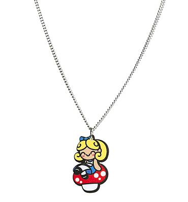 Alice on Toadstool Necklace from Punky Pins