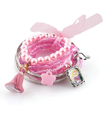 Aurora Beauty Pearl And Charms Stacker Bracelet from Bits and Bows
