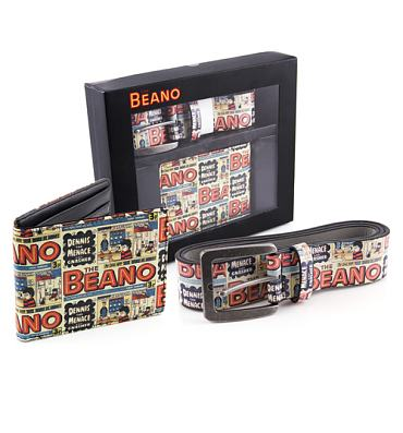 Beano Printed PU Belt And Wallet Gift Set
