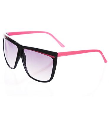 Black And Pink Oversized Wayfarer Sunglasses