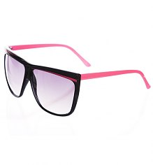 Black And Pink Oversized Wayfarer Sunglasses [View details]