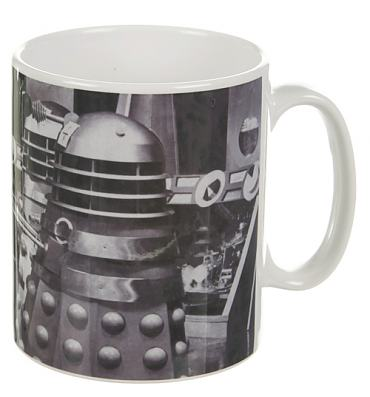 Black And White Daleks Doctor Who Mug