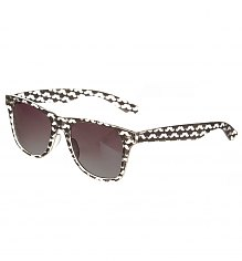 Black And White Retro Moustaches Wayfarer Sunglasses [View details]