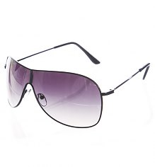 Black Aviator Wrap Visor Sunglasses [View details]