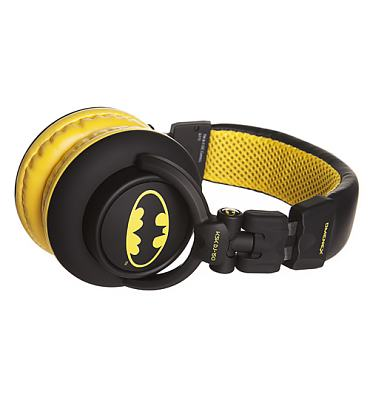 Black DC Comics Batman DJ Headphones