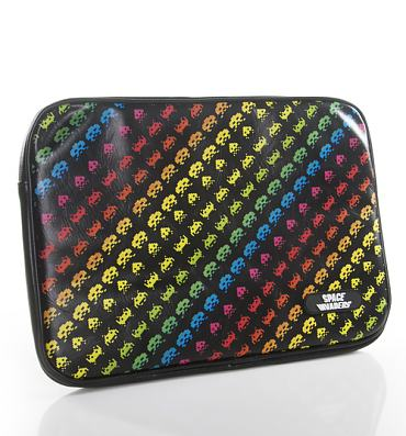 "Black Multi Space Invaders 13"" Neoprene Laptop Case from Case Scenario"