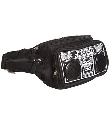 Black Retro Boombox Bum Bag With Working Speakers from Fydelity [View details]