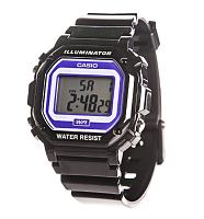 Black Retro Illuminator Watch With Blue Face from Casio