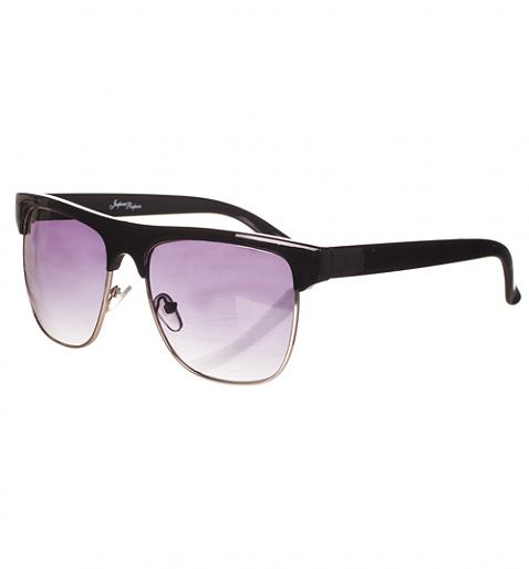 Black Solid Half Frame Wayfarer Sunglasses from Jeepers Peepers