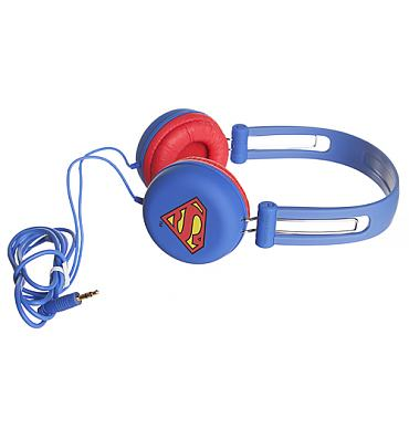 Blue DC Comics Superman Headphones