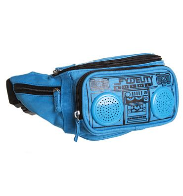 Blue Retro Boombox Bum Bag With Working Speakers from Fydelity
