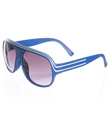 Blue Retro Millionaire Aviator Sunglasses [View details]