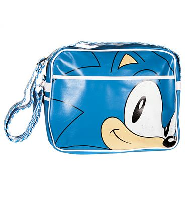 Blue Sonic The Hedgehog PU Messenger Bag