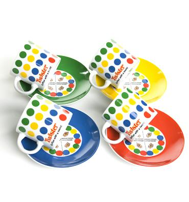 Boxed 4pk Porcelain Twister Espresso Set