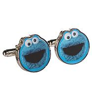 Boxed Sesame Street Cookie Monster Cufflinks