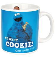 Boxed Sesame Street Cookie Monster Mug