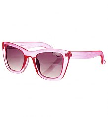 Bright Pink Retro Maria Chunky Wayfarer Sunglasses from Jeepers Peepers [View details]