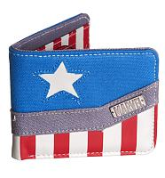 Captain America Logo Canvas Wallet