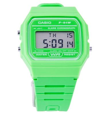 Classic Retro Bright Green Watch from Casio