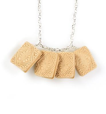 Custard Cream Biscuit Necklace from Bits and Bows