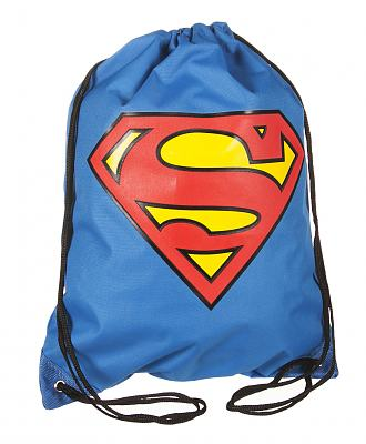 DC Comics Superman Logo Drawstring Gym Bag