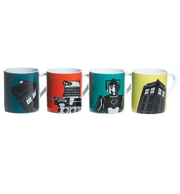 Doctor Who Boxed Set Of 4 Mugs from BBC Worldwide