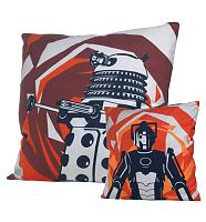 Doctor Who Dalek And Cyberman Two-Sided Design Filled Cushion from BBC Worldwide