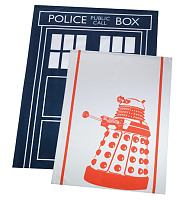 Doctor Who Dalek And Tardis Pack Of 2 Tea Towels from BBC Worldwide