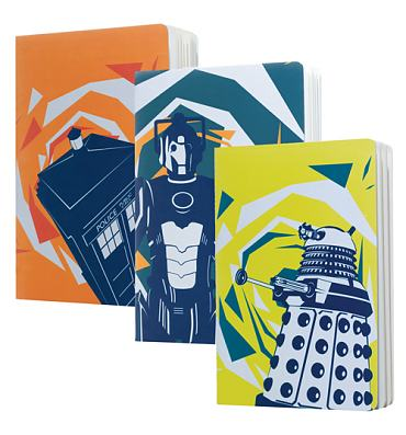 Doctor Who Pack Of 3 A5 Exercise Books from BBC Worldwide