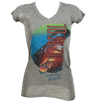Don't Stop Believing Ladies Journey V-Neck T-Shirt from Chaser LA