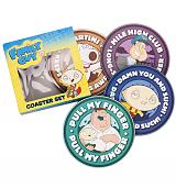 Family Guy Set Of 4 Coasters