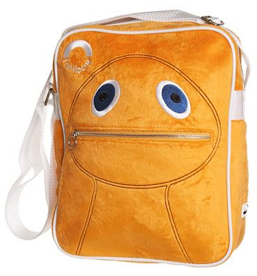Furry Orange Zippy Rainbow Flight Bag