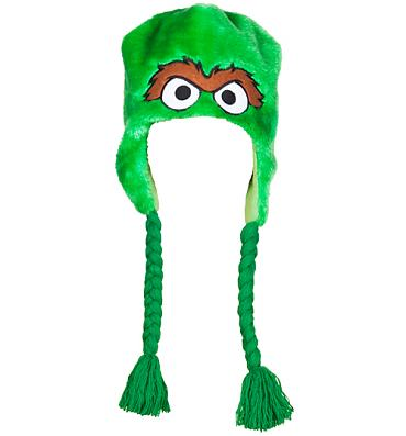 Furry Sesame Street Oscar The Grouch Laplander Hat