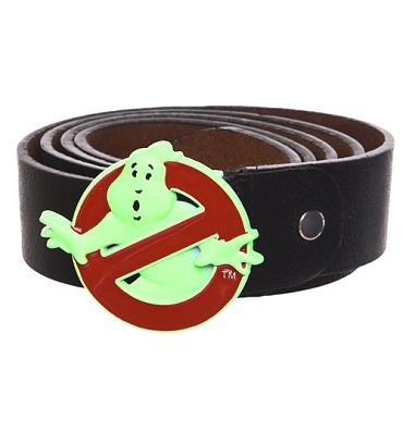 Ghostbusters Glow In The Dark Logo PU Belt