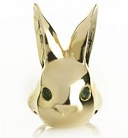 Gold Bunny Rabbit Bright Eyes from Me & Zena