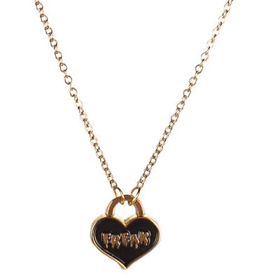 Gold Freak Heart Necklace from Me & Zena