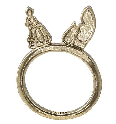 Gold Plated Cinderella Figure Stacking Ring from Disney Couture