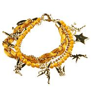 Gold Plated Multi Strand Tinkerbell Charm Bracelet from Disney Couture