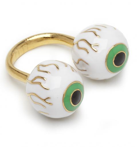 Gold Revenge Of The Eyeballs Ring from Me & Zena