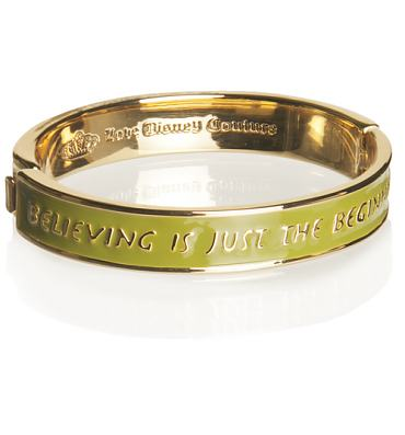 Green Believing Is Just The Beginning Tinkerbell Bangle from Disney Couture
