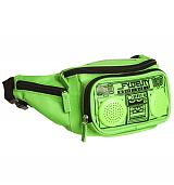 Green Retro Boombox Bum Bag With Working Speakers from Fydelity