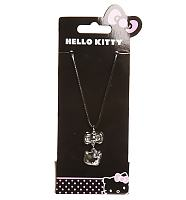 Hello Kitty Faux Leather Cord Necklace With Charms