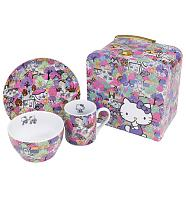 Hello Kitty Liberty 3 Piece Dinner Set In Case