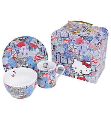 Hello Kitty Liberty London 3 Piece Dinner Set In Case