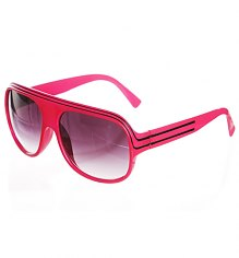 Hot Pink Retro Millionaire Aviator Sunglasses [View details]