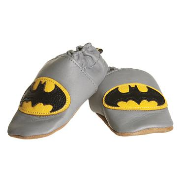 Kids Batman Leather Booties from Fabric Flavours