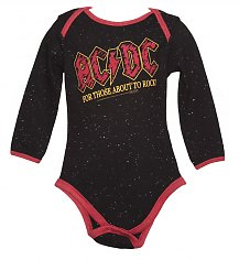Kids Black Speckle For Those About To Rock AC/DC Babygrow from Amplified Kids [View details]