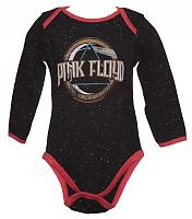 Kids Black Speckle On The Run Pink Floyd Babygrow from Amplified Kids